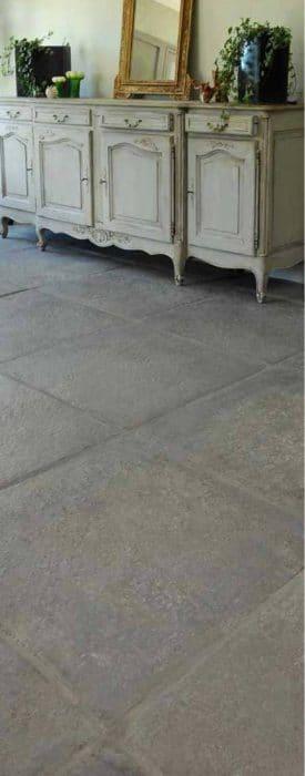 Carrelage d'intérieur gris gamme Vieille Demeure