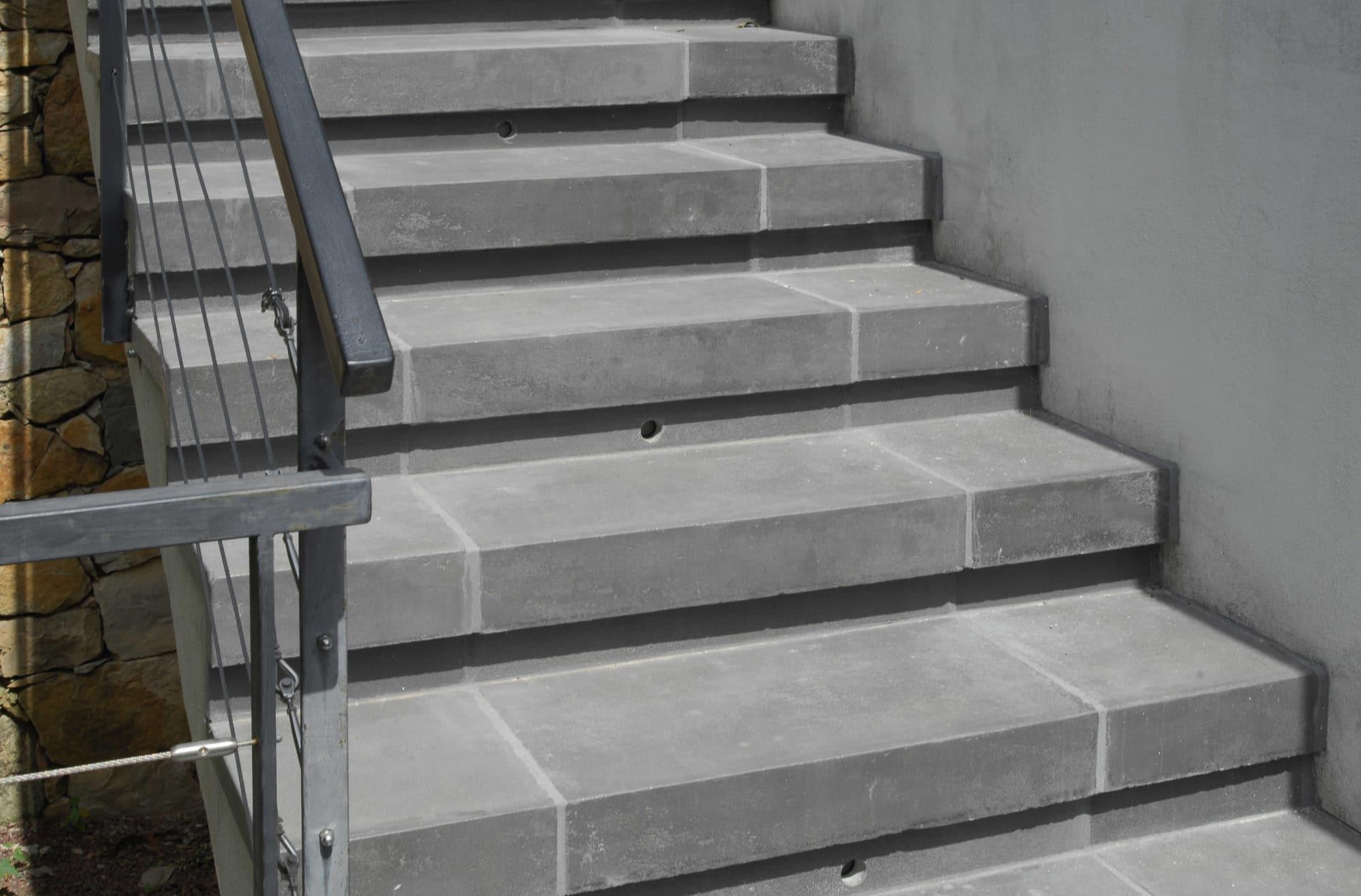Marche b ton contemporain rouvi re collection - Escalier contemporain beton ...