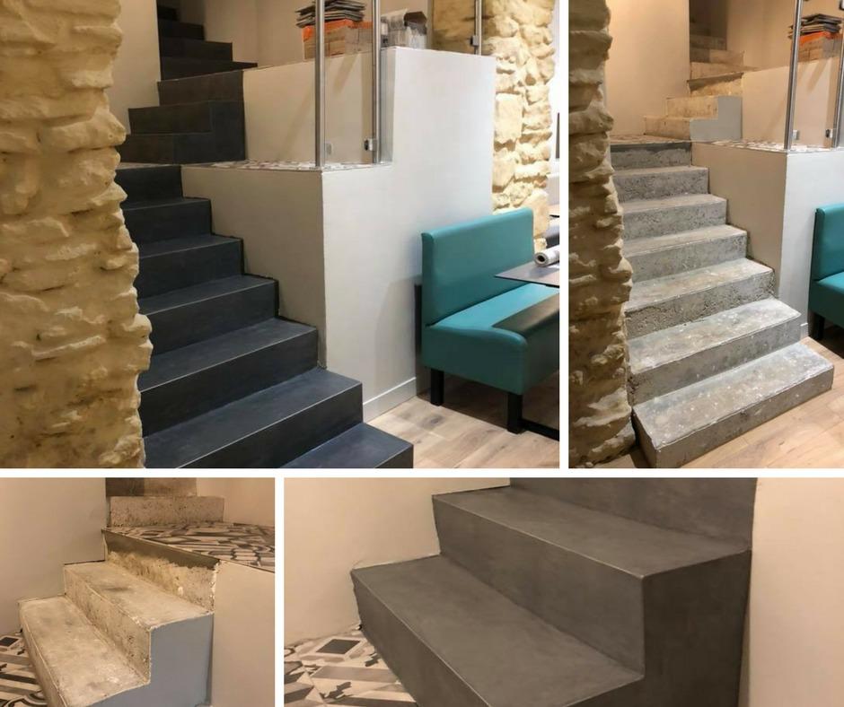 escalier-restaurant-béton-ciré-moselle