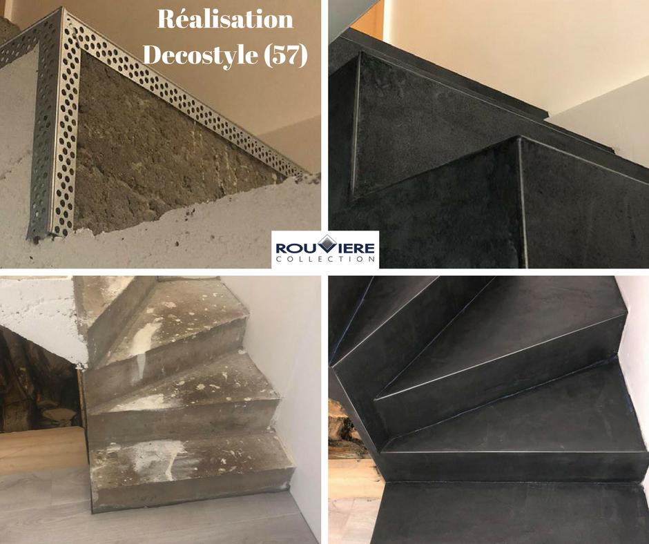 modernisez vos escaliers avec un rev tement b ton cir. Black Bedroom Furniture Sets. Home Design Ideas