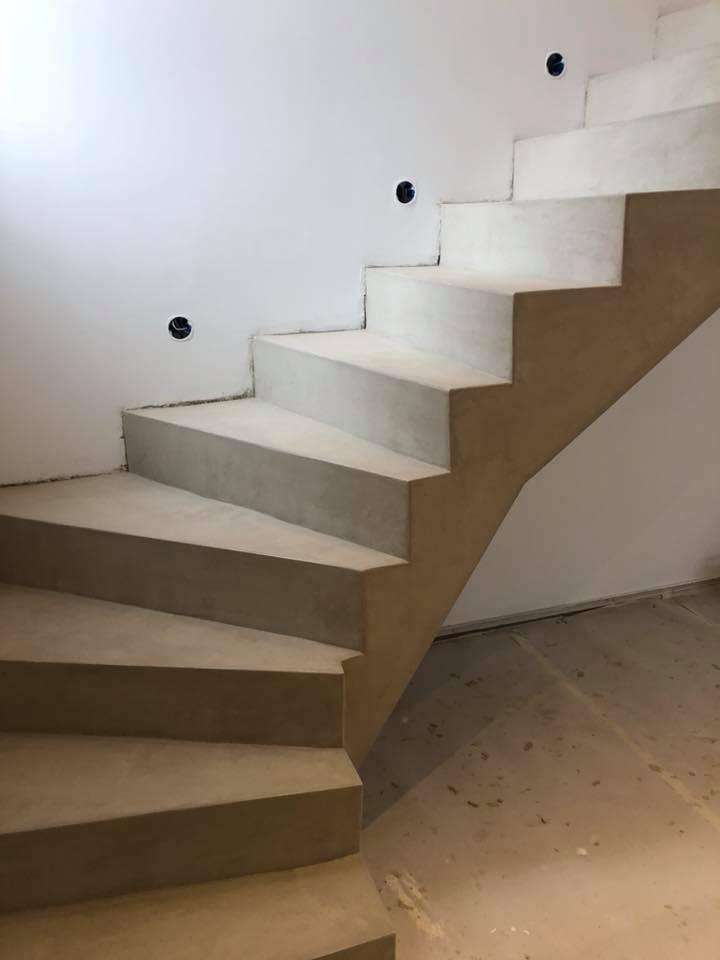 escalier b ton cir gris clair rouvi re collection. Black Bedroom Furniture Sets. Home Design Ideas