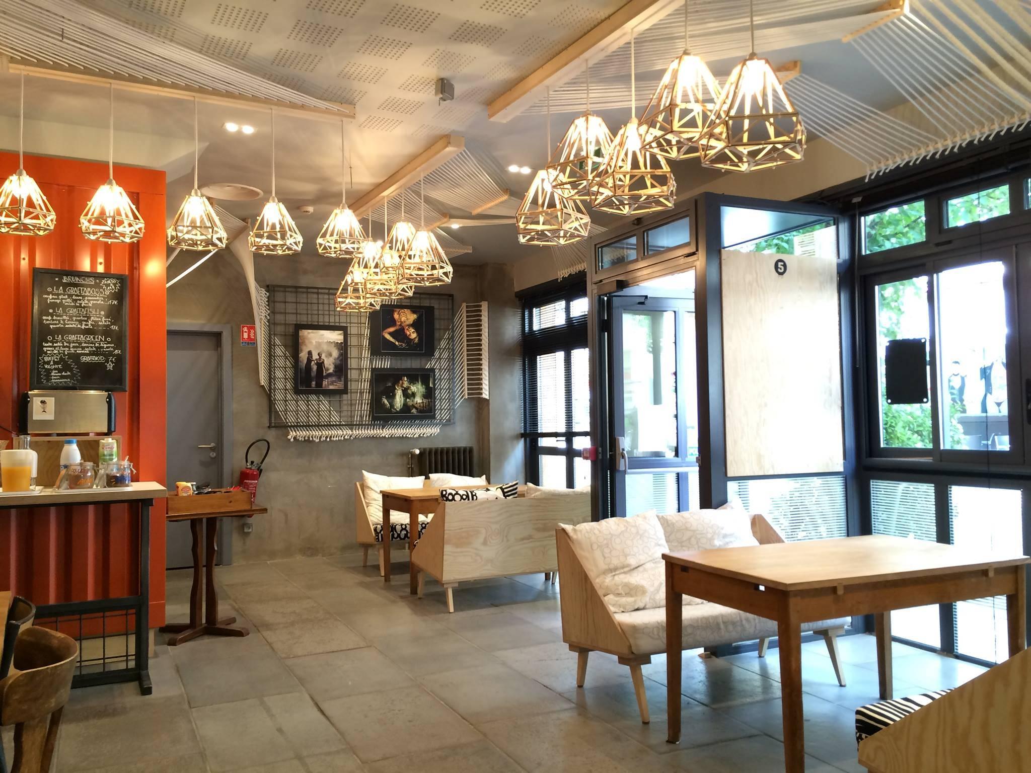 Carrelage Bouchardé, hôtel Graffalgar à Strasbourg, réalisation Les Agenceurs