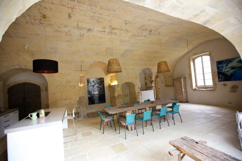 Carrelage intérieur aspect pierre vieillie