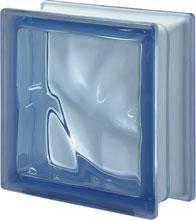 Brique de verre Bleu