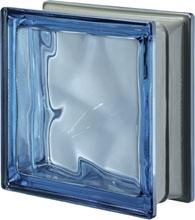 Brique de verre Bleu métallisé