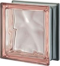 Brique de verre Rose métallisé