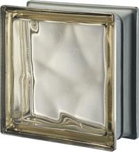 Brique de verre Sienne Métallisé