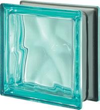 Brique de verre Turquoise Métallisé