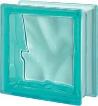 Brique de verre Turquoise
