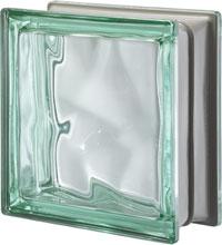 Brique de verre Vert métallisé
