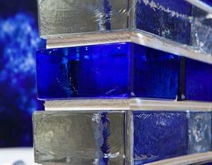 Brique Vetropieno verre plein cloison