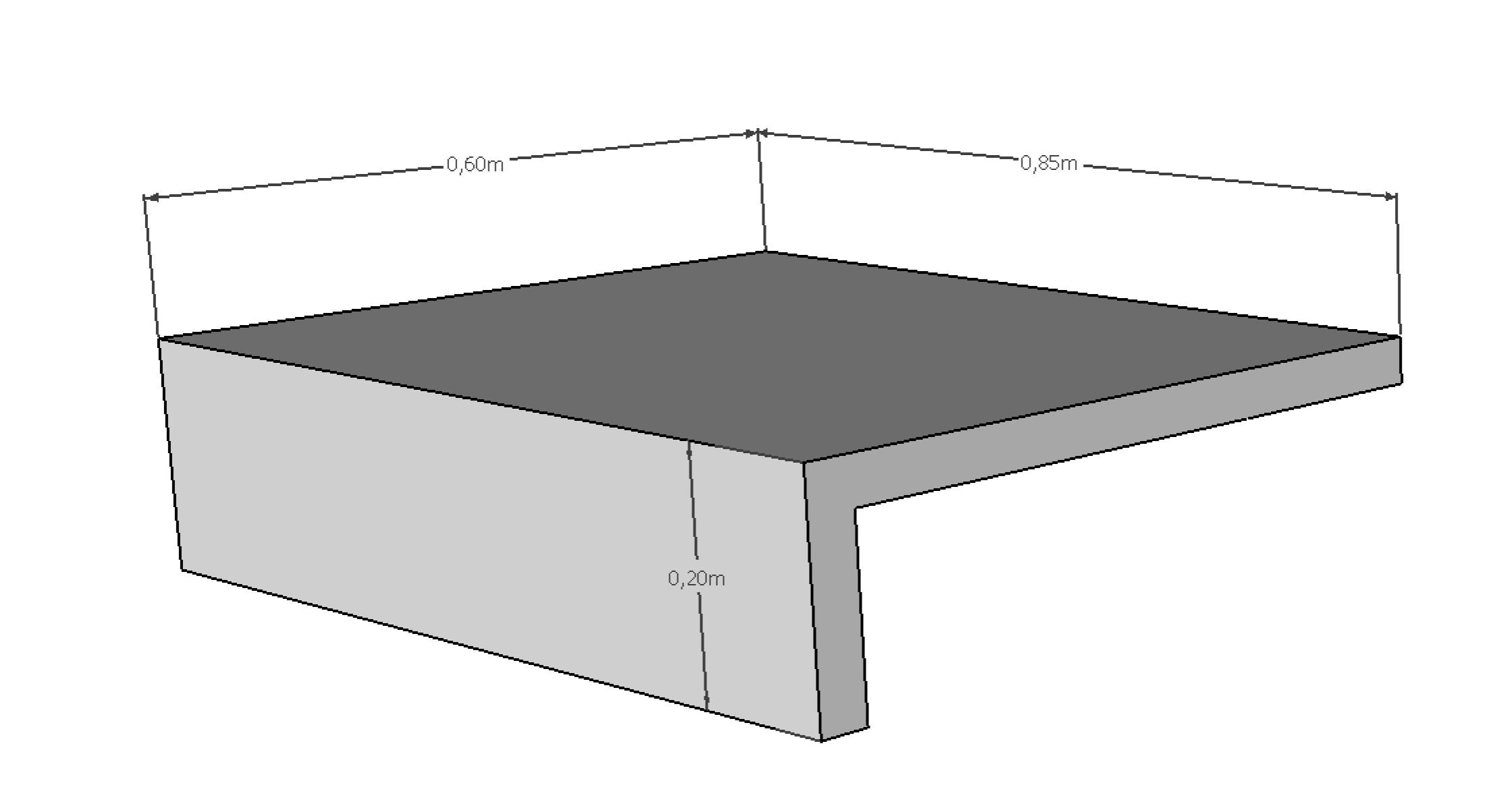 Coupe margelle L 85x60 cm