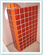 douche-verre-orange-carrelage