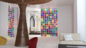 cloison-couleur-briques-verre