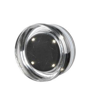 Pavé en verre photovoltaïque rond 4 leds