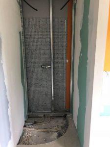 douche avant application béton ciré