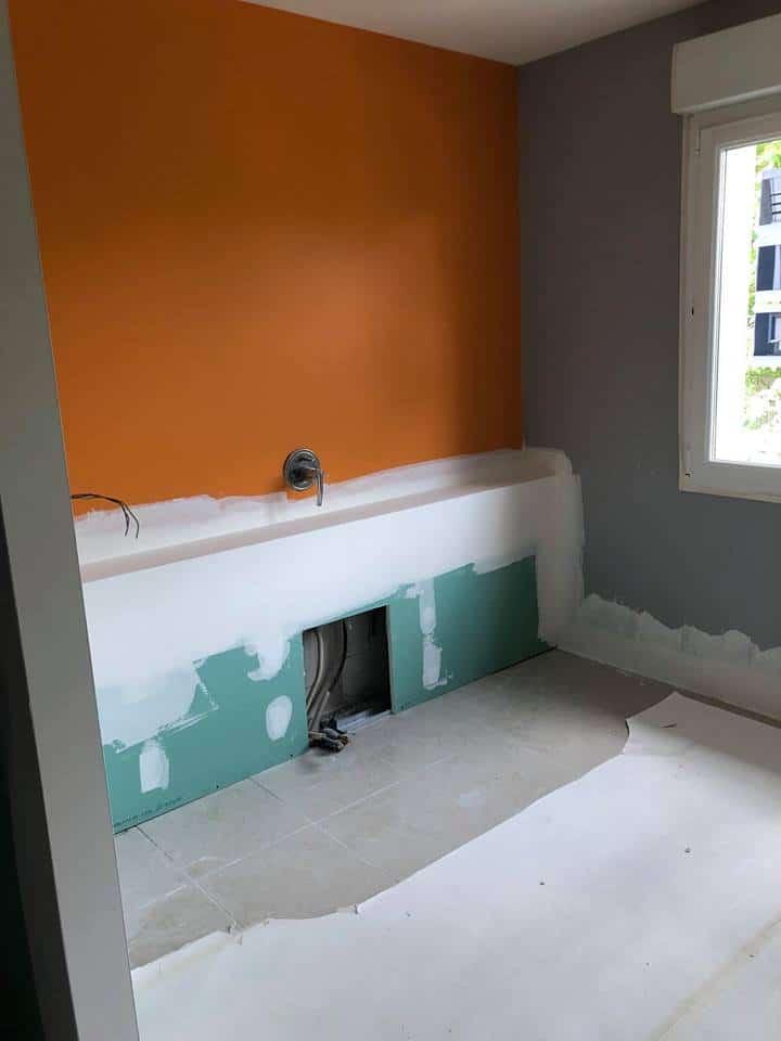Transformation de salles de bains grâce au béton ciré