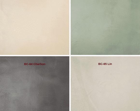 Le nuancier des teintes de béton ciré Rouviere Collection