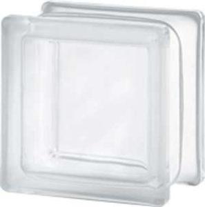 Brique de verre de 11,5x11,5x8 cm lisse satiné une face