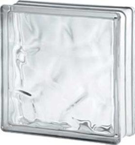 Brique de verre 24x24x8 cm ondulé transparent