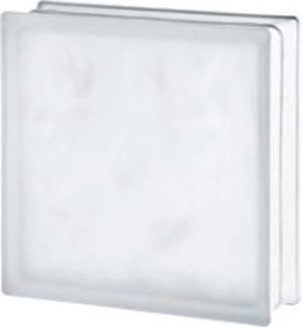 Brique de verre 30x30x10 cm verre ondulé satiné deux faces